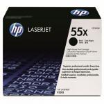 HP 55X didelės talpos LaserJet juoda (Black) tonerio kasetė (CE255X)