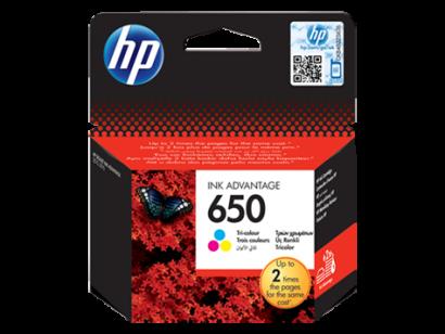 HP 650 trijų spalvų (Tri-colour) originali rašalo kasetė