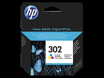 HP 302 trijų spalvų (Tri-color) rašalo kasetė